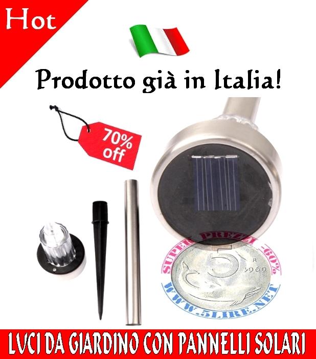 3X Lampade Paletti LED Luci da Giardino con Pannello a ...