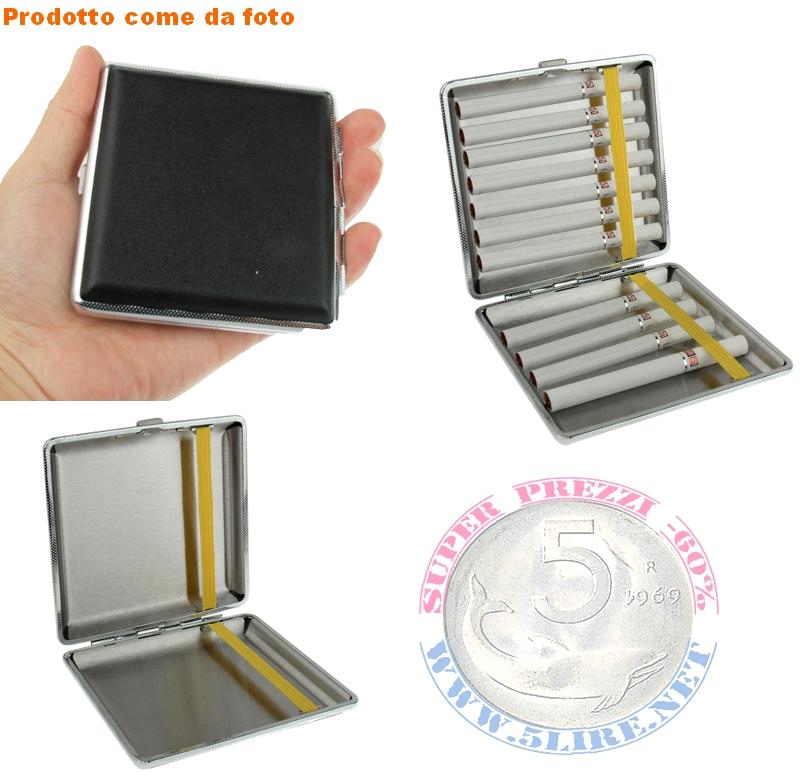 Portasigarette Metallo argento